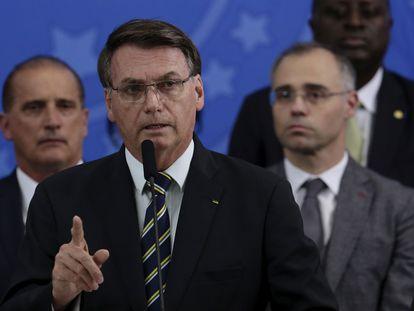 Bolsonaro, em pronunciamento.