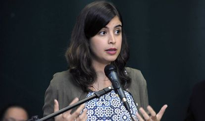 A deputada Tabata Amaral (PDT-SP), no Congresso, no último dia 27.