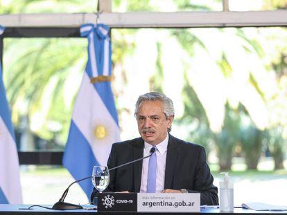 O presidente da Argentina, Alberto Fernández, integrante do Grupo de Puebla.