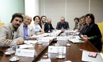 Representantes do Movimento Estelita do Brasil e dirigentes do Ministério da Cultura reuniram-se para discutir a situação do Cais Estelita