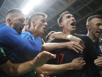 Mandzukic marcou o gol da virada da Croácia sobre a Inglaterra, já no segundo tempo da prorrogação.
