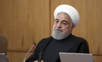 O presidente iraniano, Hasan Rohani, nesta quarta-feira em Teerã.