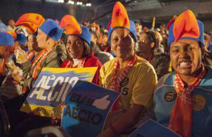Militantes do PSDB durante a convenção do partido.