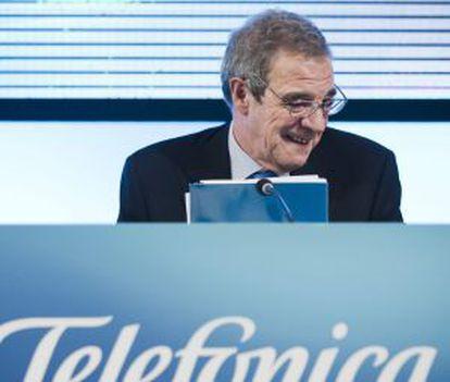 O presidente de Telefónica na Espanha, César Alierta.