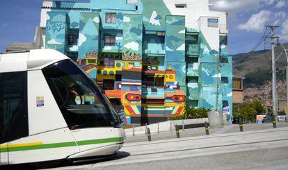 Transporte público em Medellin.