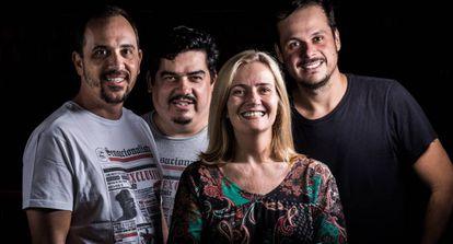 Desde a esquerda: Nelito Fernandes, Leonardo Lanna, Martha Mendonça e Marcelo Zorzanelli