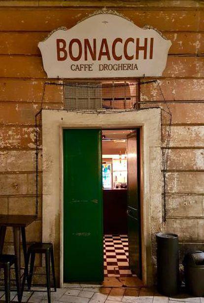 O café Bonacchi, em Matera (Itália).