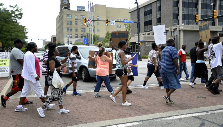 Manifestação em Erie, Pensilvania.