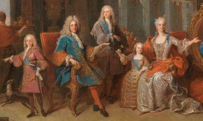 Um fragmento de 'A família de Felipe V', de Jean Ranc (1723)
