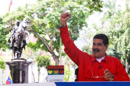 Maduro, durante a emissão de seu programa.
