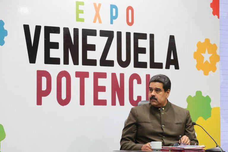 Maduro durante discurso na Expo Venezuela Potencia 2017.