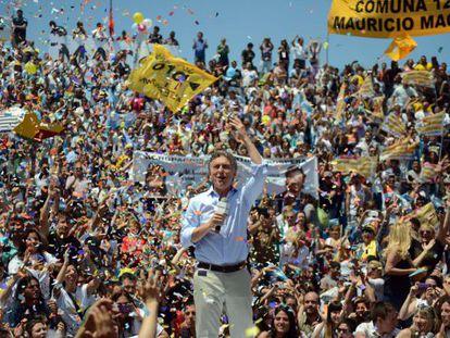 O candidato opositor Mauricio Macri.