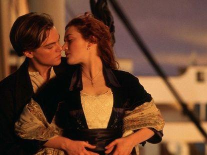 Leonardo di Caprio e Kate Winslet em cena de 'Titanic'.