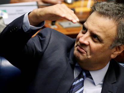 O senador Aécio Neves.