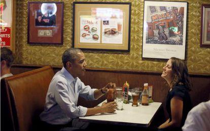 Obama come com uma remetente em Minnesota.