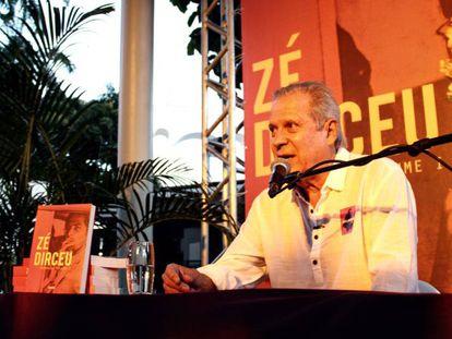 Dirceu no ano passado, durante divulgação do seu livro no Rio de Janeiro.