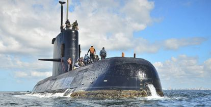 O submarino argentino ARA San Juan.