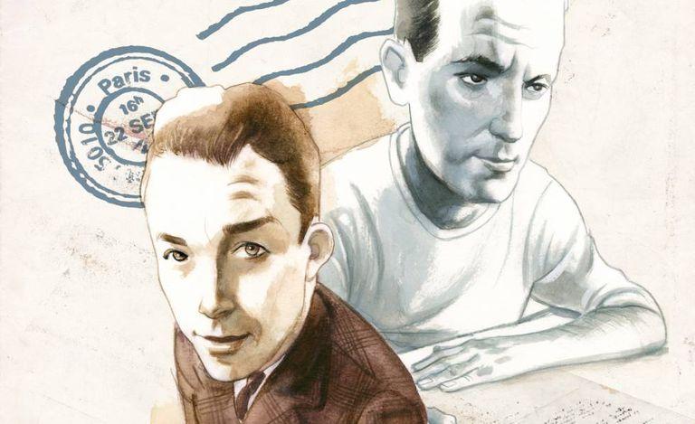 Albert Camus e René Char, vistos por Fernando Vicente.