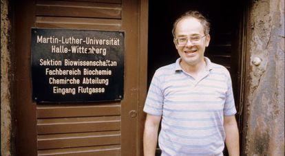 Günter Fischer em 1989, na Universidade de Halle.