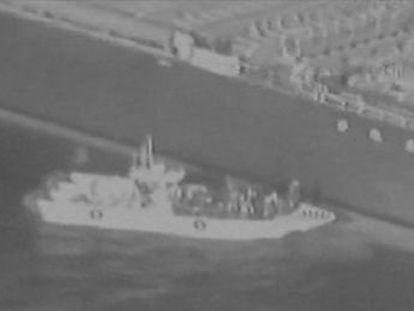 Comando Central do Exército divulgou gravação em que atribui a um navio-patrulha iraniano a retirada de um explosivo não detonado de um dos navios sabotados