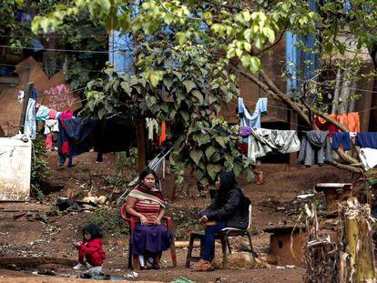 Aldeia de índios guarani, em São Paulo.