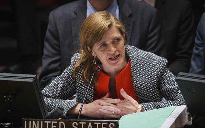 Samantha Power, ex-embaixadora dos EUA na ONU, em imagem de arquivo