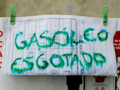 Posto de gasolina no Porto sem óleo diesel.
