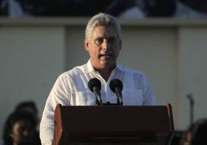O vice-presidente Miguel Díaz-Canel em 2014, em Havana