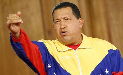 O ex-presidente da Venezuela, Hugo Chávez, no palácio de Miraflores, em uma foto de 2010.