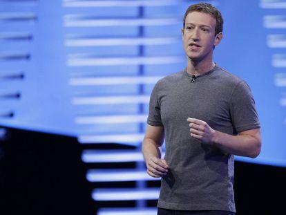 Mark Zuckerberg durante a conferência F8 em San José.