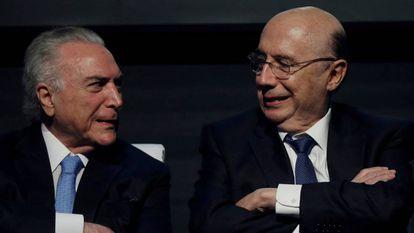 Temer e Meirelles em fevereiro, em Brasília.