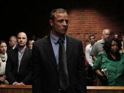 Pistorius em fevereiro de 2013 durante uma audiência judicial.