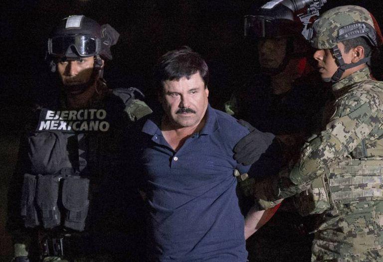 Joaquín El Chapo Guzmán, em 8 de janeiro.