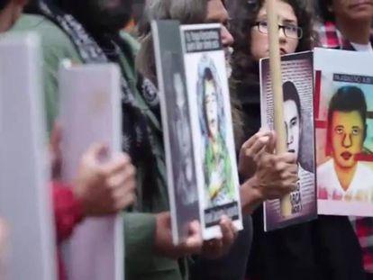 Manifestação pelos estudantes desaparecidos