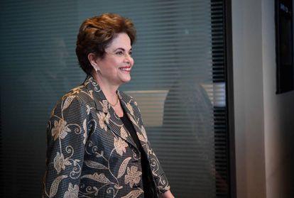 Dilma Rousseff, nesta segunda-feira, na Cidade do México.