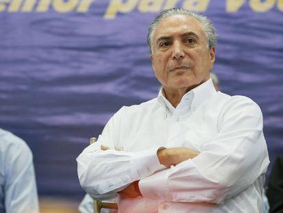Michel Temer em evento em Serra Talhada, Pernambuco.