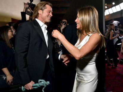 Brad Pitt e Jennifer Aniston, nos prêmios SAG.