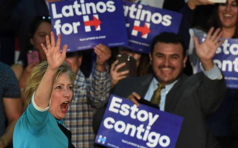 Clinton no leste de Los Angeles, na quinta-feira.