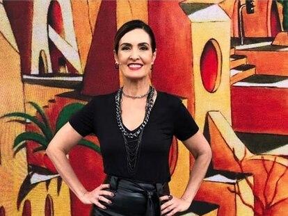 A apresentadora Fátima Bernardes.