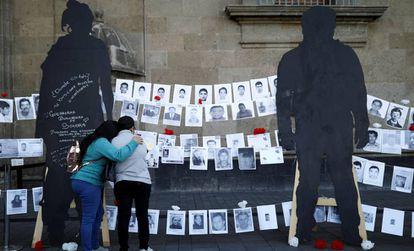 Manifestação pelos desaparecidos esta sexta-feira no México.