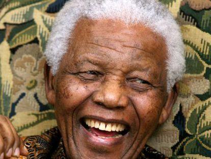 O líder sul-africano Nelson Mandela