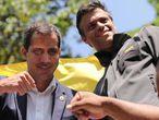 Juan Guaidó y Leopoldo López este 30 de abril en Caracas.