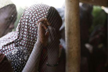 Refugiados da violência do Boko Haram no Chade.