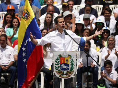 Juan Guaidó, durante evento em Caracas.