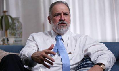 Augusto Aras, em Brasília, em abril de 2019.