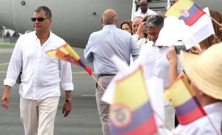 O presidente do Equador, Rafael Correia, nesta quarta-feira.