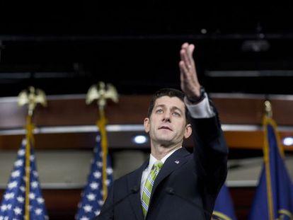 O presidente da Câmara de Representantes, Paul Ryan.