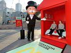 Promoción del regreso del juego del Monopoly de McDonald's en Melbourne, Australia, en 2016.