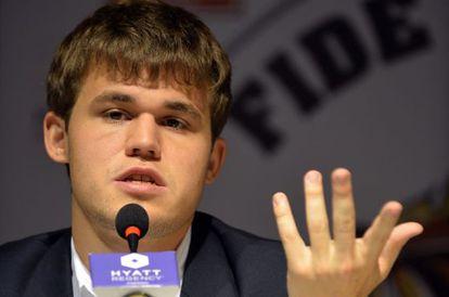 Carlsen, depois da partida.