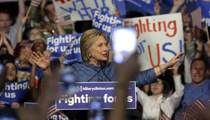Clinton, nesta terça-feira, em Flórida